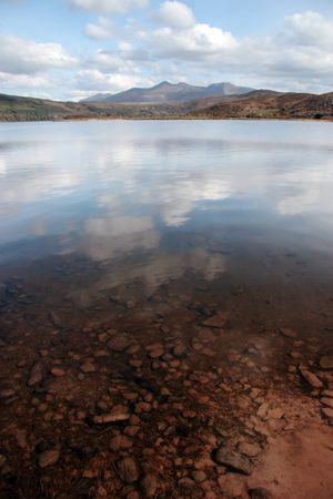 kerry: a view fom the shore of carragh lake in county kerry in ireland