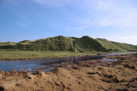 weird sand dunes on the west coast of ireland Stock Photo - 3066222