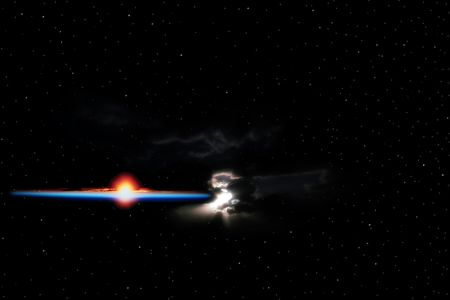 a simulation of an exploding star or planet Stock Photo - 3114243