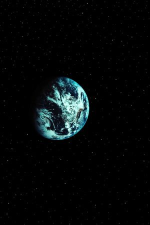a simple background of the earth and stars at night in the sky of our own universe Stock Photo - 3160129