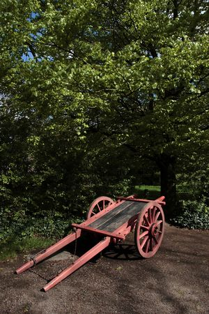 the old days: an old cart thats used in old days by irish farmers