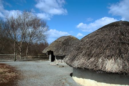 an old ancient irish mud hut village