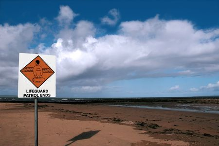 kerry: a sign warning that there is no lifeguard patrol beyond this sign