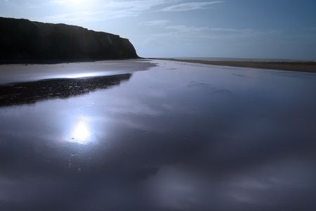 kerry: ballybunion beach co kerry ireland on a cold winters day Stock Photo
