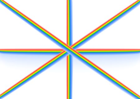 a flag made of colors representing good chi Stock Photo - 3394448