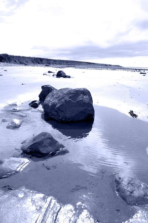 kerry: beale beach co kerry ireland on a cold winters morning