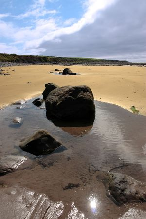 beale beach co kerry ireland on a cold winters morning photo