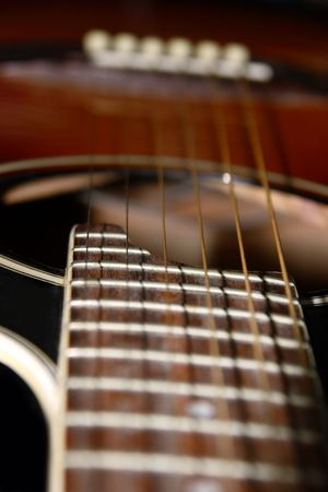 re do: a close up of an acoustic guitar Stock Photo