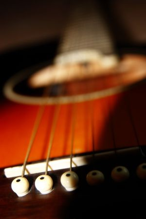 re do: an abstract close up of an acoustic guitar Stock Photo