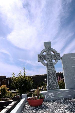 an old irish graveyard in Kerry on the west coast of Ireland Stock Photo - 3547875