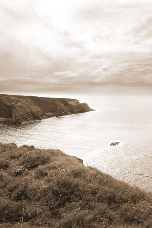 kerry: west of ireland coastal view on a calm winters day Stock Photo