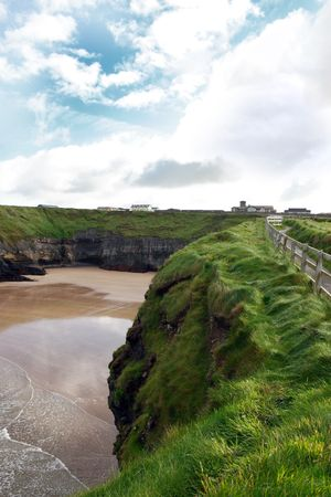 co  kerry: the cliff walk in ballybunion co kerry ireland
