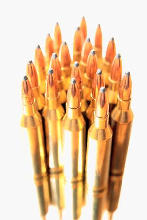 ammunition all in a bunch on a white background Stock Photo - 3903905