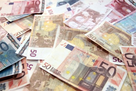 european money banknotes spread out on the ground Stock Photo - 4219187