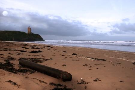 driftwood on ballybunion beach on the west coast of ireland at night Stock Photo - 4286146