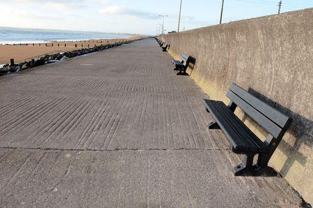 a seaside promenade in youghal county cork ireland photo