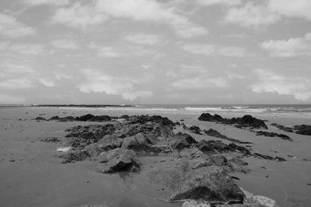ballybunion beach as a storm gathers power on the horizon Stock Photo - 4813055