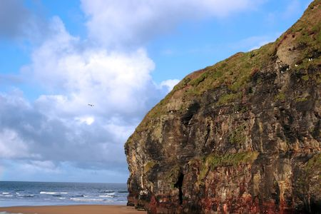 ballybunion beach in winter with the cliffs Stock Photo - 4888276