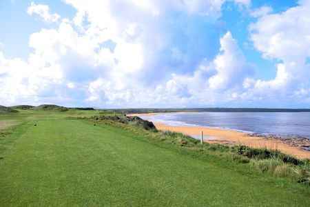 the edge of a links course in ireland Stock Photo - 5267467