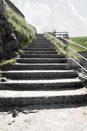 co  kerry: a view of the steps from the beach in ballybunion co kerry ireland Stock Photo