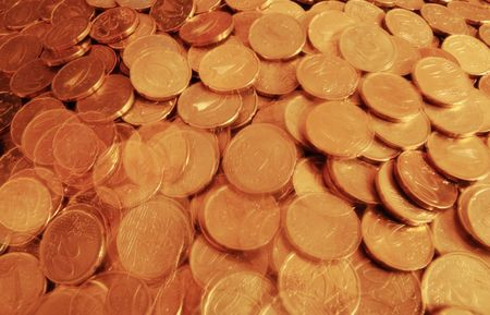 lots of loose change in twenty cent pieces Stock Photo - 5335008