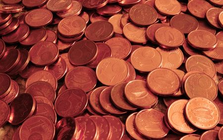 lots of loose change in one cent pieces photo
