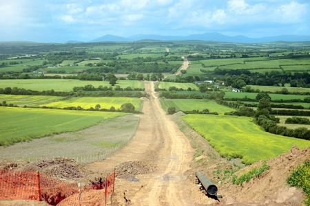 pipe laying through the heart of the countryside