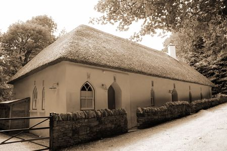 thatched cottage in knockanore county waterford in the south of ireland in summer Stock Photo - 5503900
