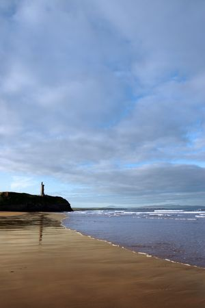 co  kerry: a view of the beach in ballybunion co kerry ireland Stock Photo