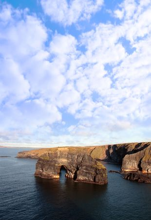 a view of the virgin rock in ballybunion ireland as seen from the cliffs on a calm winters day photo