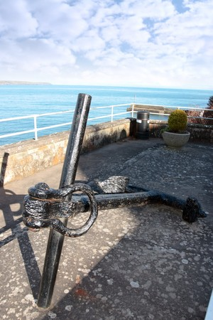 ship anchor on display in ardmore county waterford ireland Stock Photo - 7534089