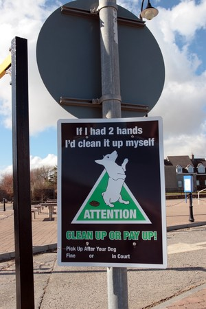 keep clean: warning sign on dog littering in ireland