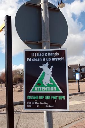 littering: warning sign on dog littering in ireland