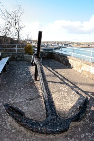 ship anchor on display in ardmore county waterford ireland Stock Photo - 7607990