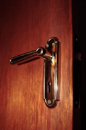 close up of a brass door handle on interior door Stock Photo - 7607966