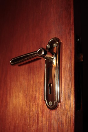 close up of a brass door handle on interior door Stock Photo - 7607966