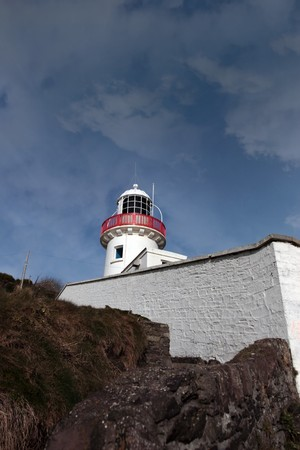 youghal: lighthouse on the rocks in youghal county cork ireland