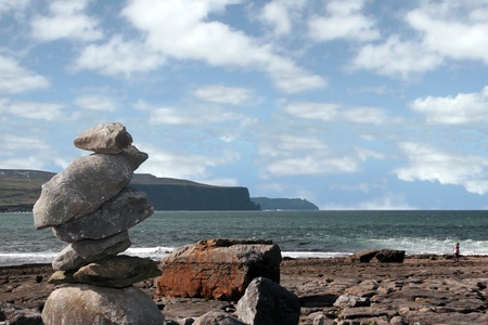 rock piles on the beach in doolin county clare ireland Stock Photo - 8974631