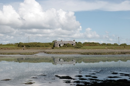 an old rustic abandoned country cottage in county kerry photo