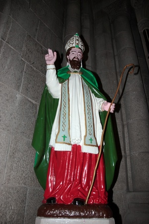 saint patrick statue in an irish church photo