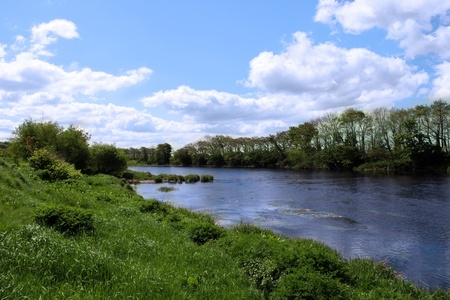 munster: the Feale river that runs through Listowel county Kerry in Ireland