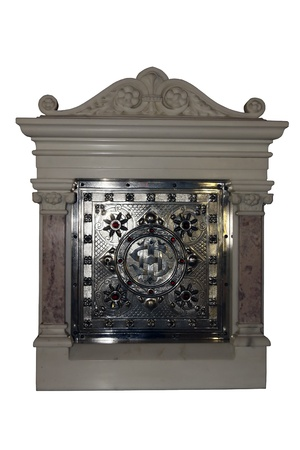 tabernacle: tabernacle from a christian church against a white background with a clipping path