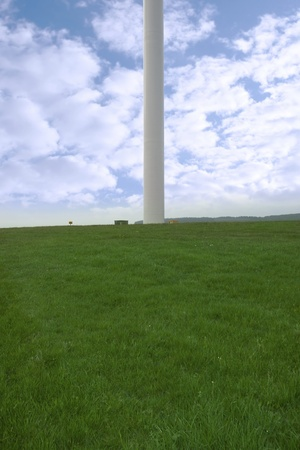 county tipperary: base of a windmill on lush irish countryside landscape in glenough county tipperary ireland