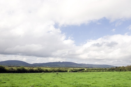 a scenic view of the devils bit and flields in county tipperary ireland Stock Photo - 12893712