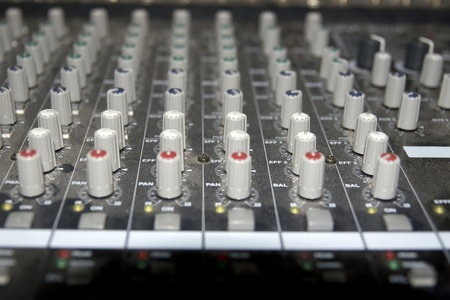 controls on a sound editing console photo