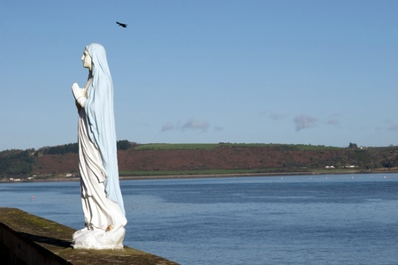youghal: a statue of the virgin mary in youghal county Cork Ireland