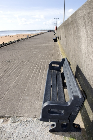 Youghal beach promenade on a quiet summers afternnon in Ireland Stock Photo - 16428133