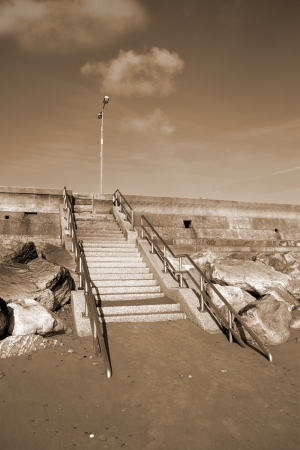 steps upto the beach promenade in Youghal county Cork Ireland Stock Photo - 16551689
