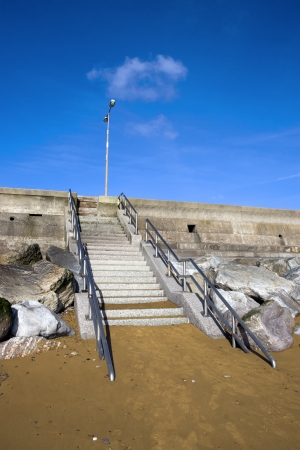 youghal: steps upto the beach promenade in Youghal county Cork Ireland