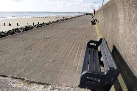 Youghal beach promenade on a quiet summers afternnon in Ireland photo